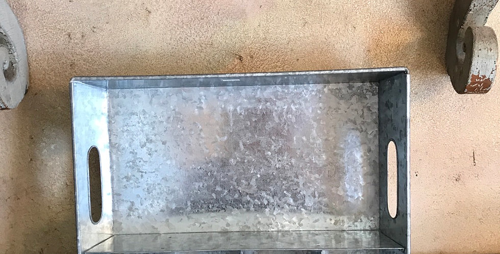 Galvanized Metal Divided Tray