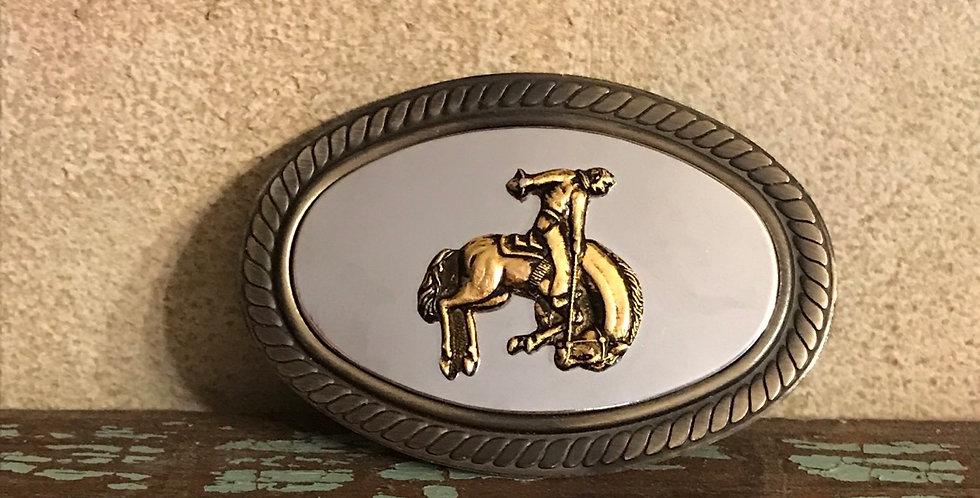 Bucking Bronco Cowboy Belt Buckle