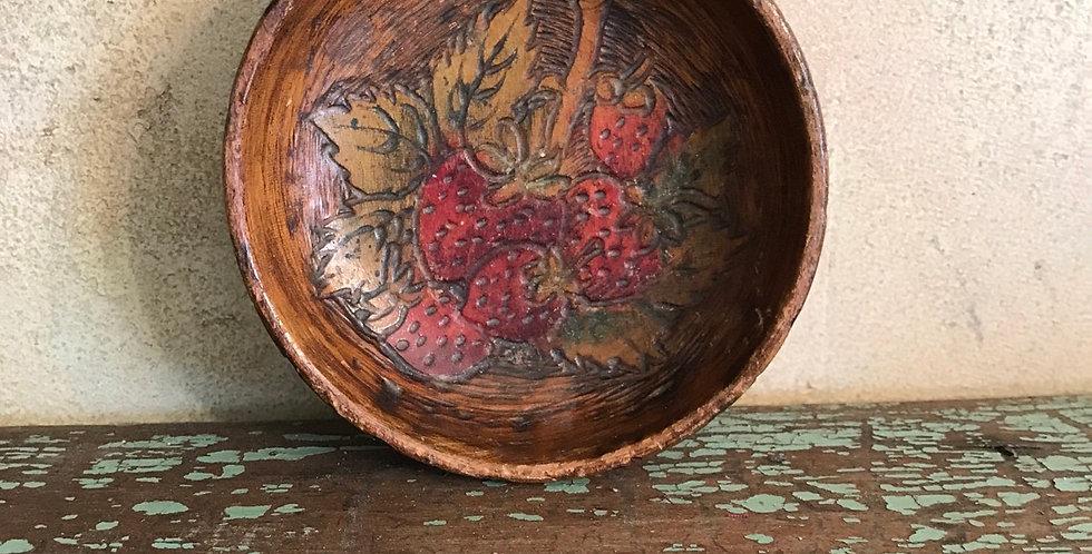 Pyro Art Bowl w/Strawberries