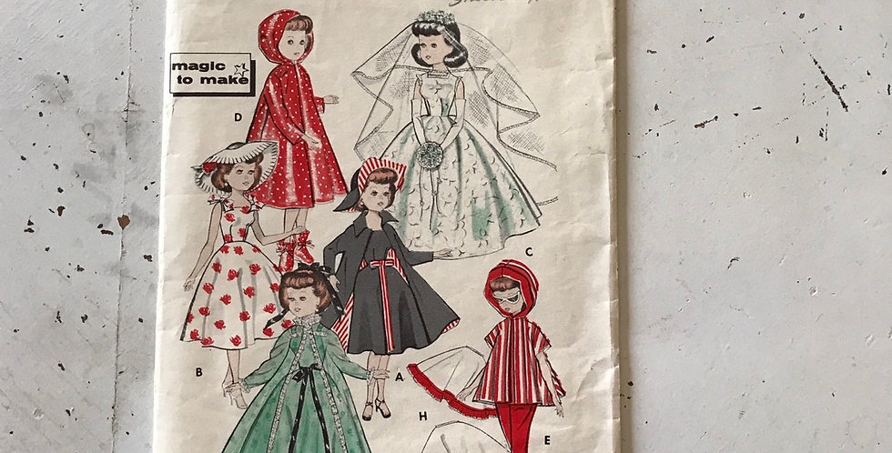 "Butterick Vintage 10 1/2"" Doll Pattern"