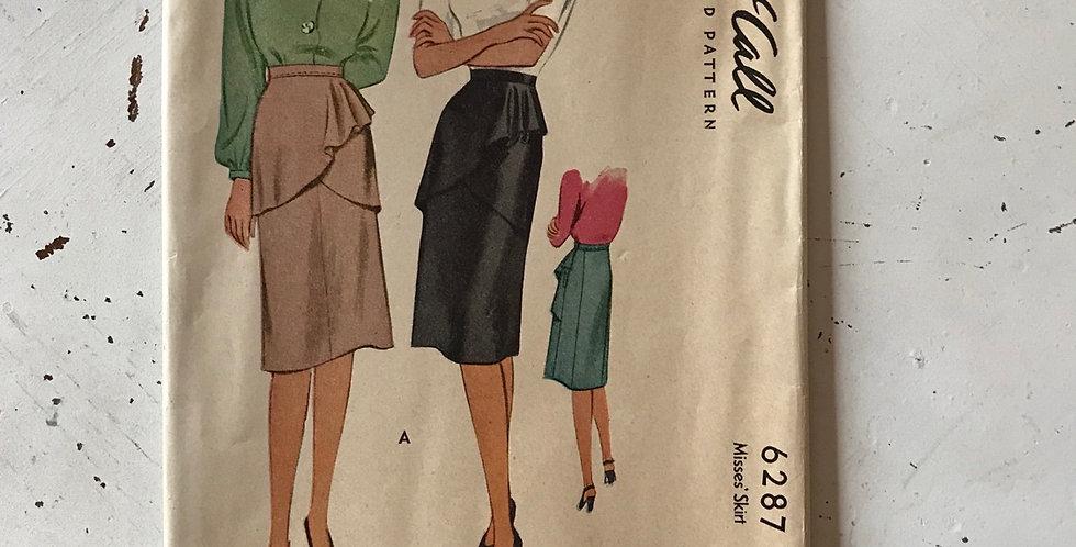 Vintage 40's McCall Skirt Pattern