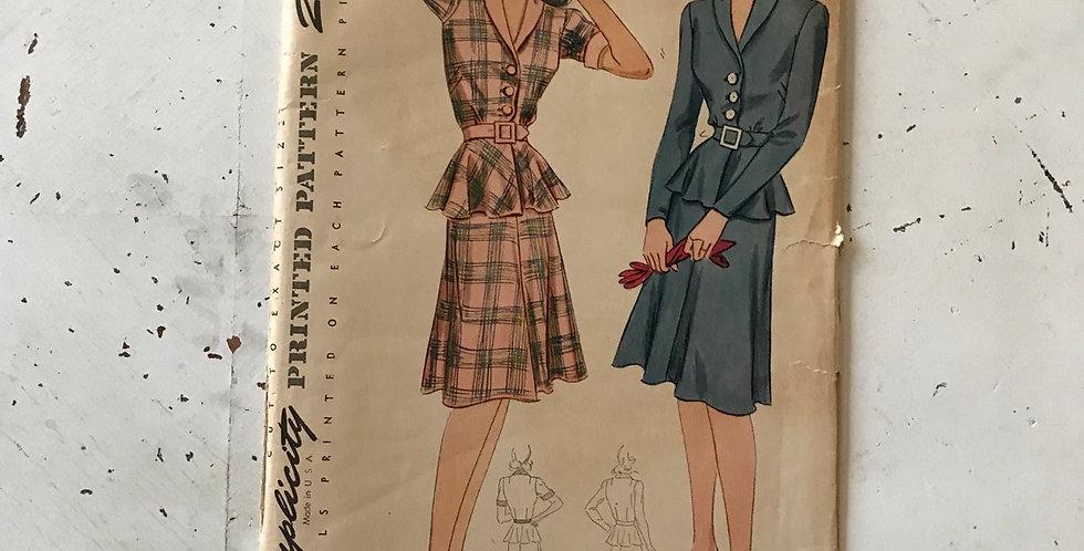 Simplicity Peplum Dress Pattern