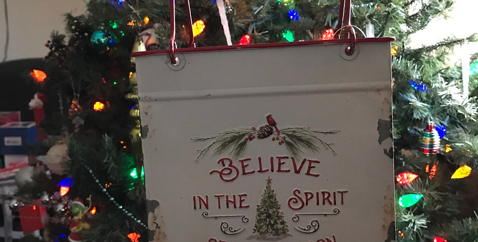 Believe in the Spirit of Christmas Tin