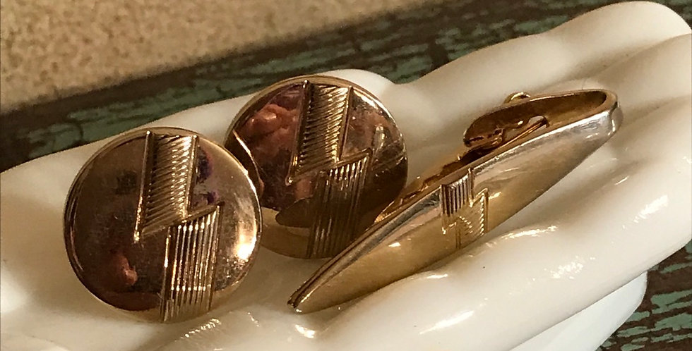 Shields Cuff Links and Tie Bar