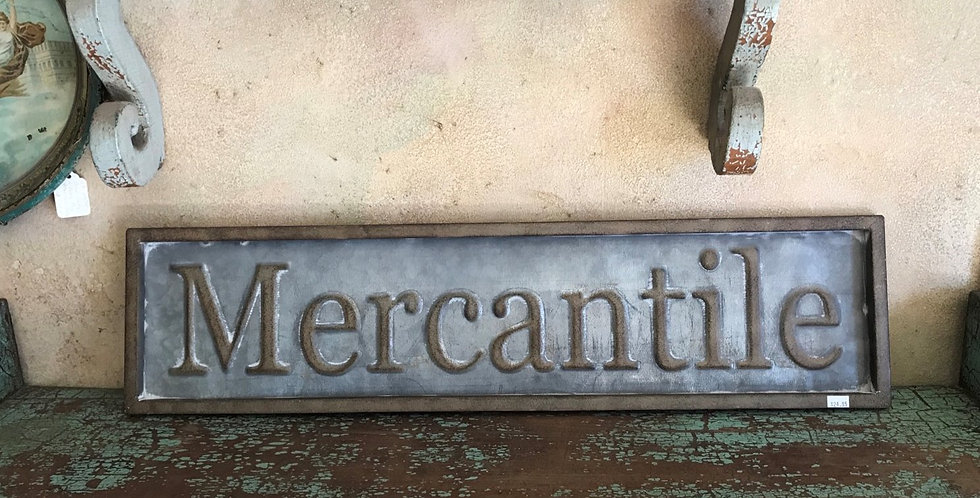 Metal Mercantile Sign