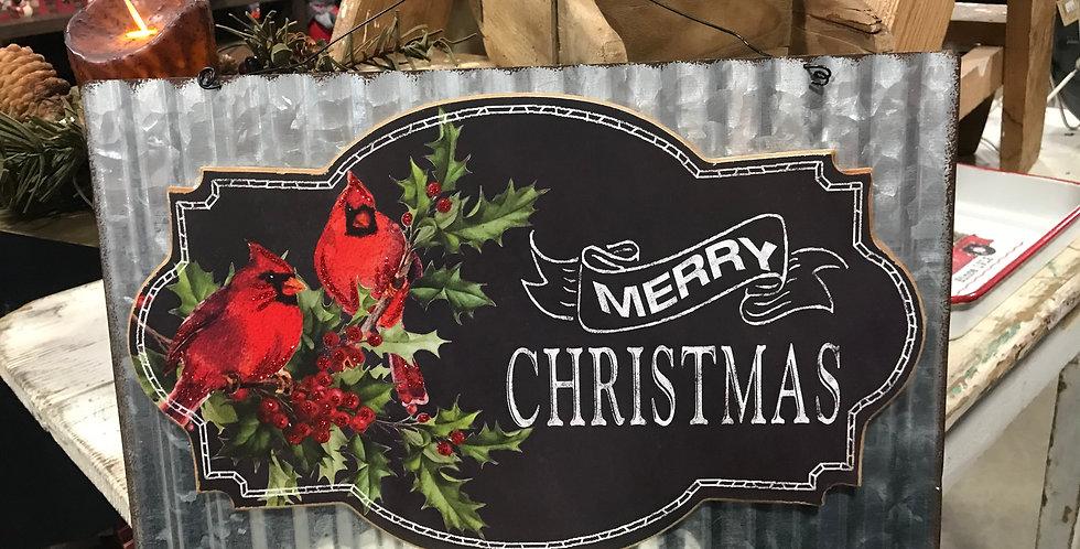 Christmas Cardinal Corrugated Sign