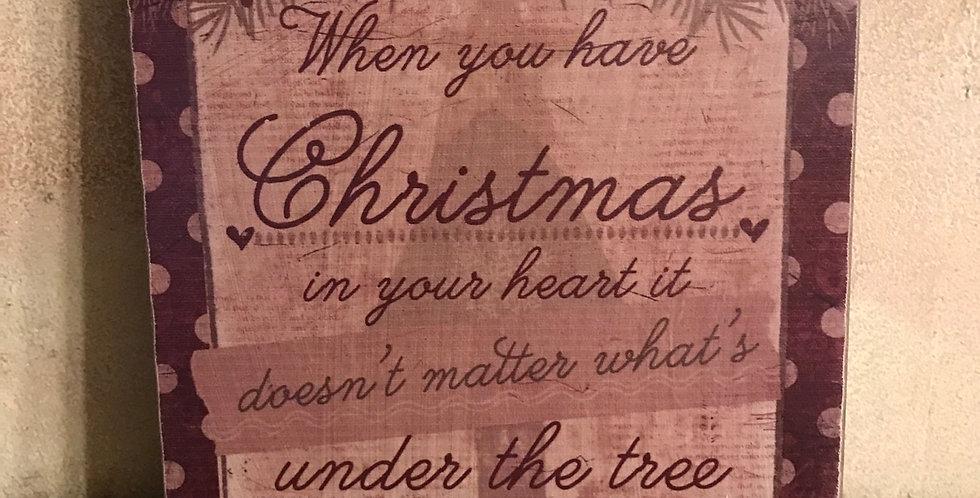 Christmas Heart Box Sign