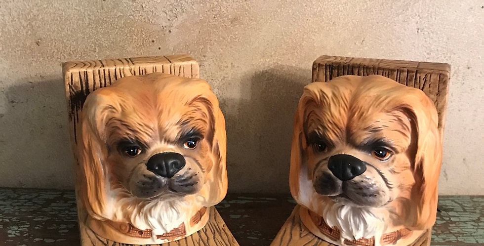 Lefton China Dog Bookends