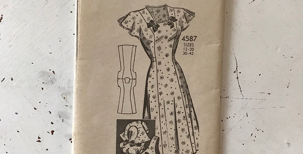 Anne Adams Dress Pattern Unprinted