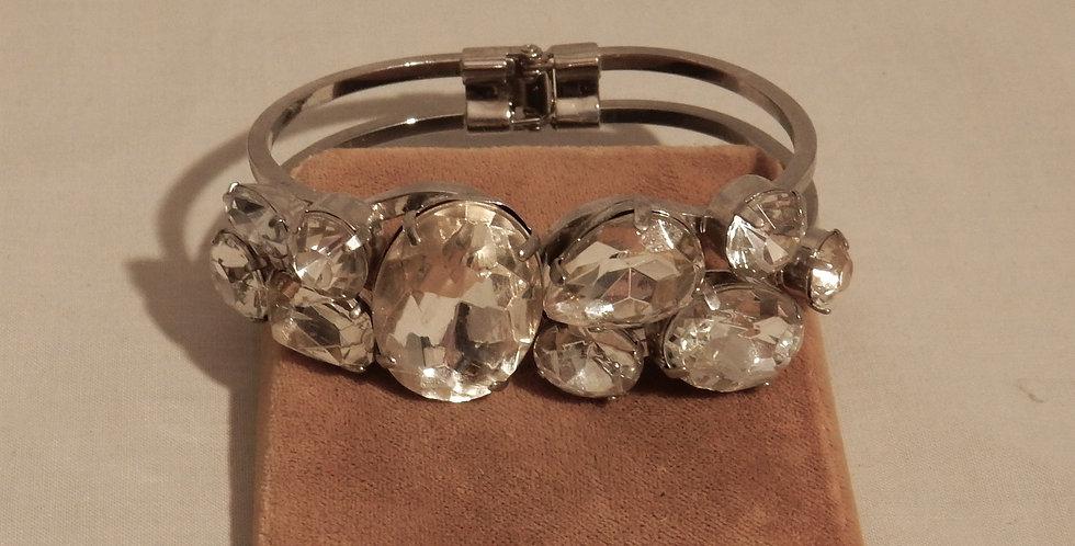 Juliana Clear Rhinestone Clamper Bracelet