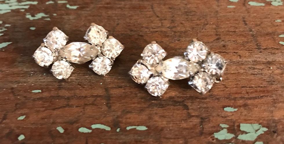 Pair Vintage Rhinestone Scatter Pins