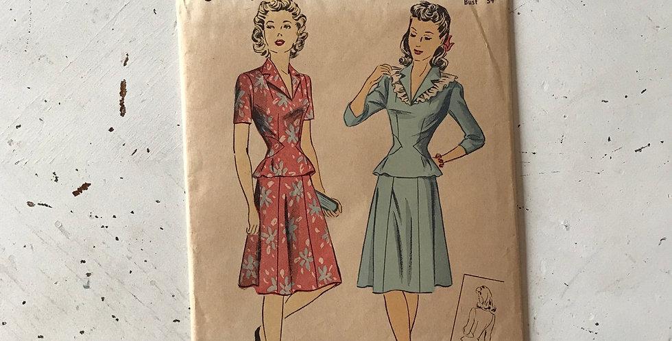 Vintage Du Barry 2 Piece Pattern