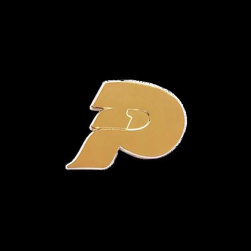 P logo pin
