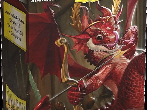 100 Dragon Shield Sleeves - Valentine Cupid Dragon