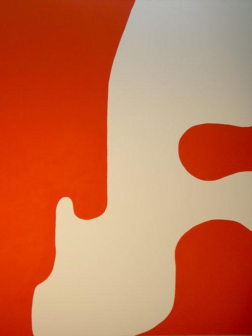 Untitled (Orange and White), Rosanne Kapela, 2016