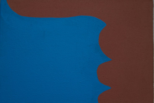 Untitled (Blue and Brown), Rosanne Kapela, 2016