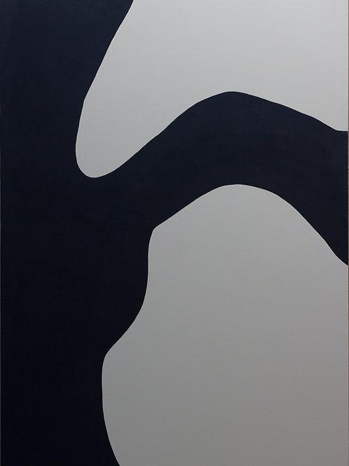 Untitled (Navy and White), Rosanne Kapela, 2016