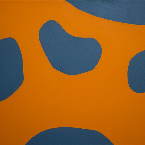Untitled (Orange and Navy), Rosanne Kapela, 2016