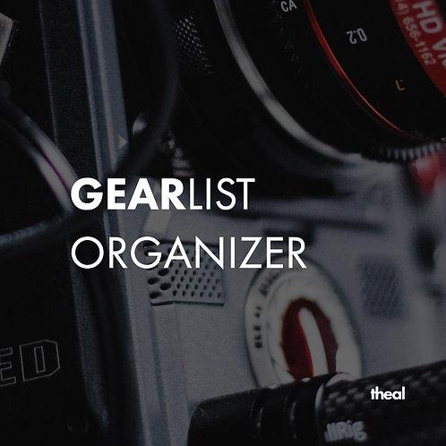 Gearlist Organizer