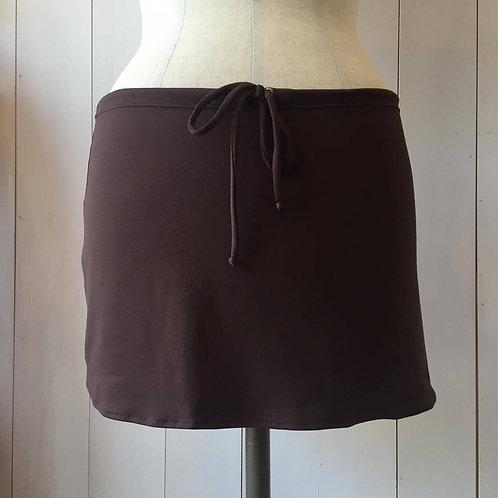 Chocolate_Short Drawstring Skirt