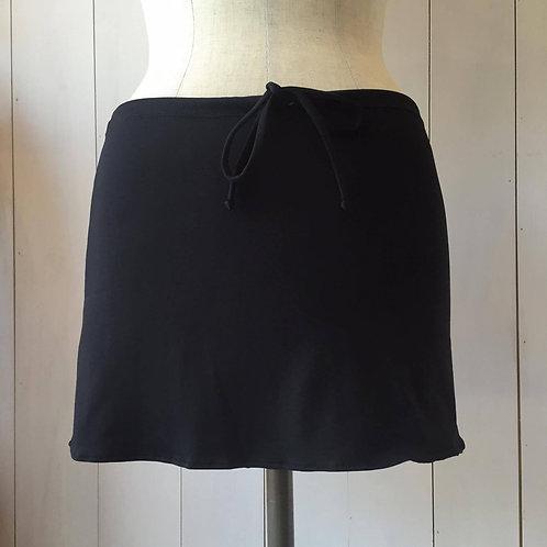 Black_Short Drawstring Skirt
