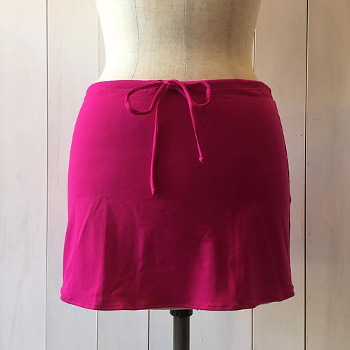 Fuschia_Short Drawstring Skirt