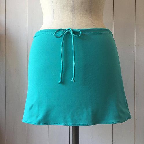 Sea Green_Short Drawstring Skirt