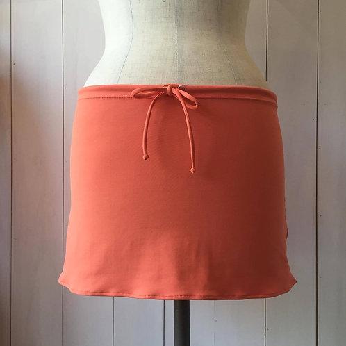 Coral_Short Drawstring Skirt