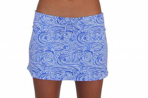 Waves_Short Drawstring Skirt