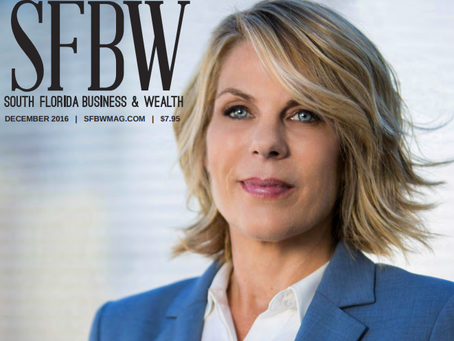 Mika Mattingly's Makeup on South Florida Business & Wealth Magazine Cover