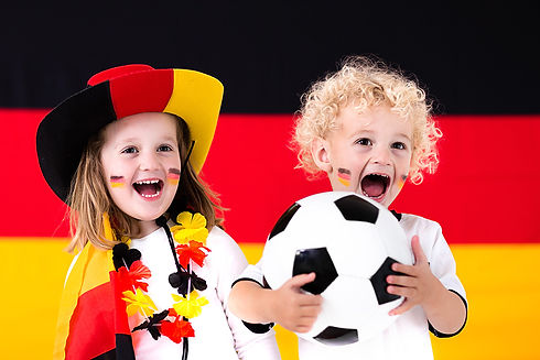 Happy-cute-kids-German-football-supporte