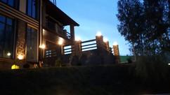 Ландшафтная подсветка террасы