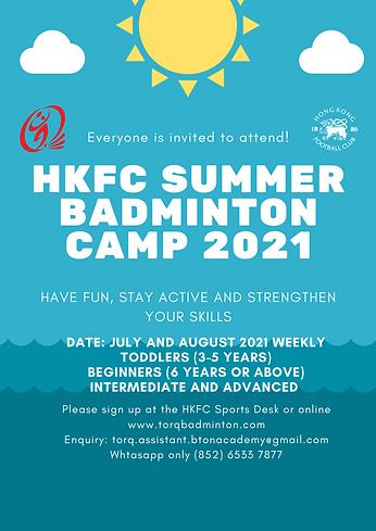 HKFC badminton summer camp poster 2021.p