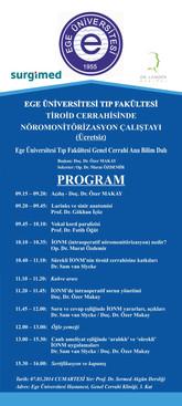Ege Üniversitesi Tıp Fakültesi Tiroid Cerrahisinde Nöromonitorizasyon Çalıştayı üzerine