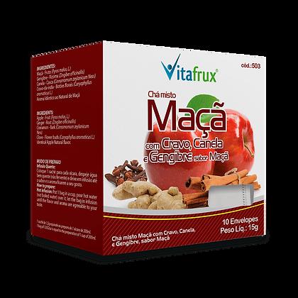 Chá Misto Maçã com Gengibre, Canela e Cravo sabor Maçã - 10 sachês