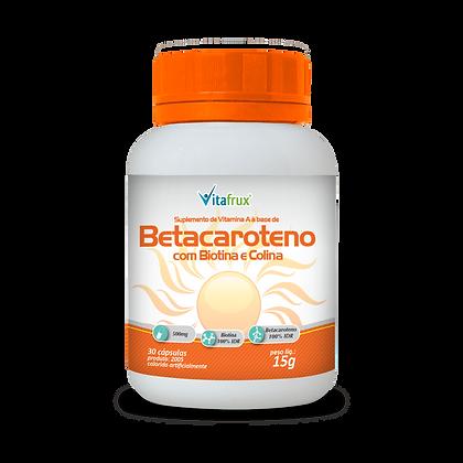 Betacaroteno com Biotina e Colina em cápsulas