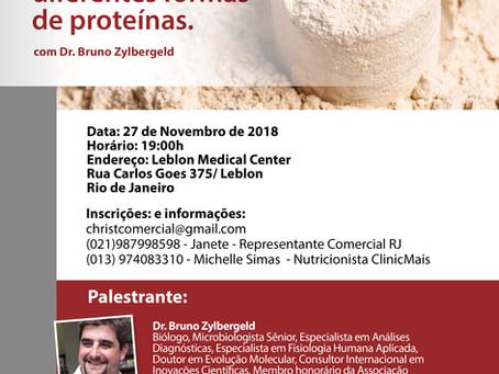 Palestra: Aplicação clínica das diferentes formas de proteínas.