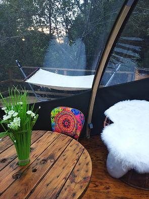 Nuit insolite en bulle Bretagne Finistere spa cabane romantique étang forêt