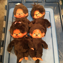 $25 Lot Of 4 vintage monchhichi oh so so