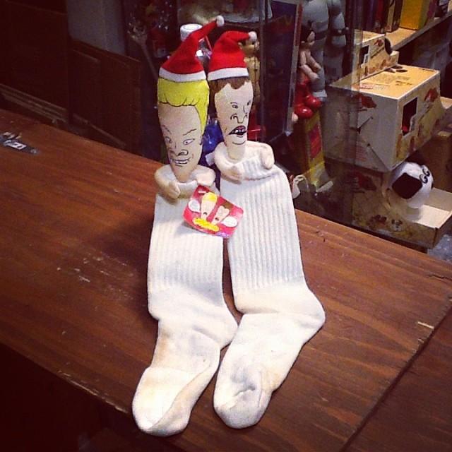 MTV's Beavis and Butt-Head Christmas Stockings #mtv #scroozetoys #scroozetoyshollywood #beavisandbut