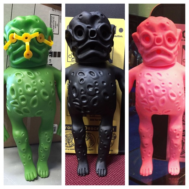 The Growing Collection of Ooze it's!! Green Original 80's Blk & Pink Secret Base 14'.