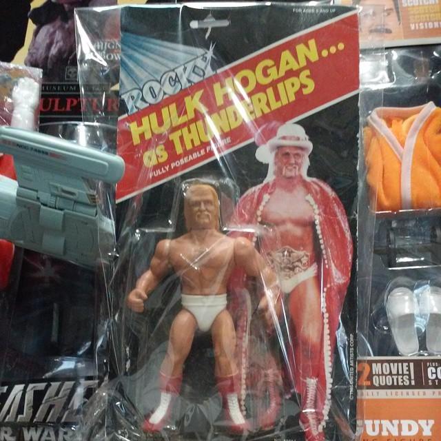 Vintage Rocky III Hulk Hogan as Thunderlips 1985 $100 shipped #scroozetoys#hulkhogan#appleworks#rock