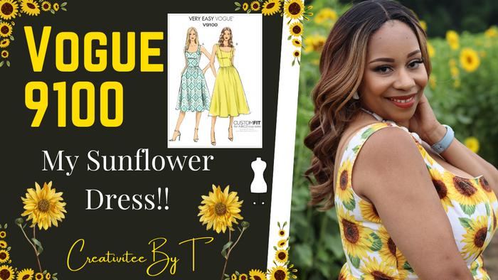 My Sunflower Dress!  Vogue 9100