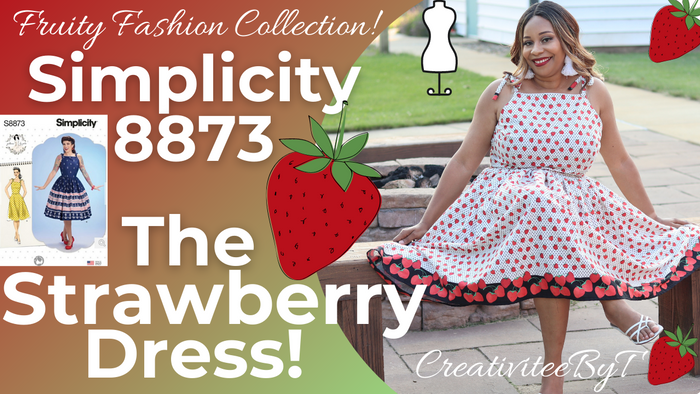 The Strawberry Dress -Fruity Fashion Collection, Simplicity 8873