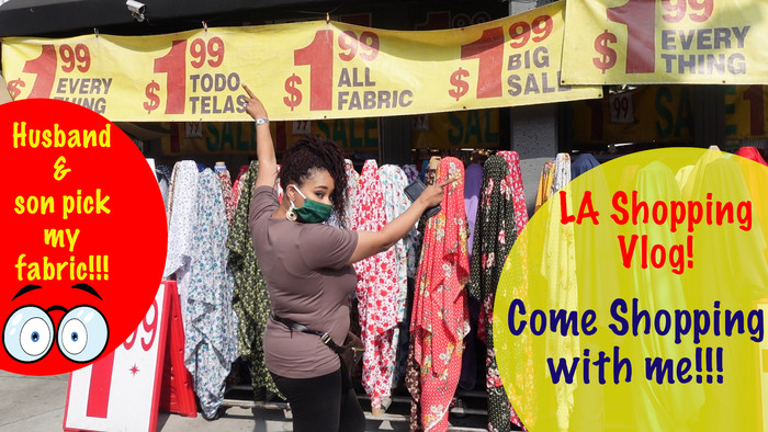 LA Fabric Shopping VLog!