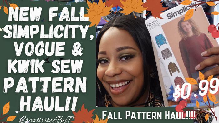 Fall Simplicity, Vogue & Kwik Sew Pattern Haul