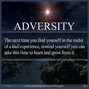 The Challenge of Adversity