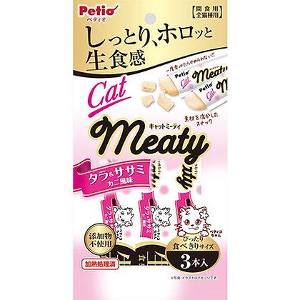 Petio貓小食 無添加.生食感 蟹肉味雞胸肉&鱈魚肉醬 3支裝 #B94(W13574)