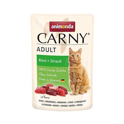 Animonda Carny 成貓濕糧包|牛 + 鴕鳥 85g #N56
