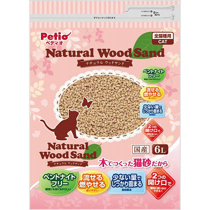 Petio天然松木貓砂(6升)